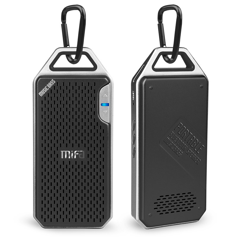 MIFA F4 Drahtlose Bluetooth Lautsprecher Mit Mic Micro SD Haken tragbaren bluetooth lautsprecher Aluminium-legierung Gehäuse stoßfestigkeit