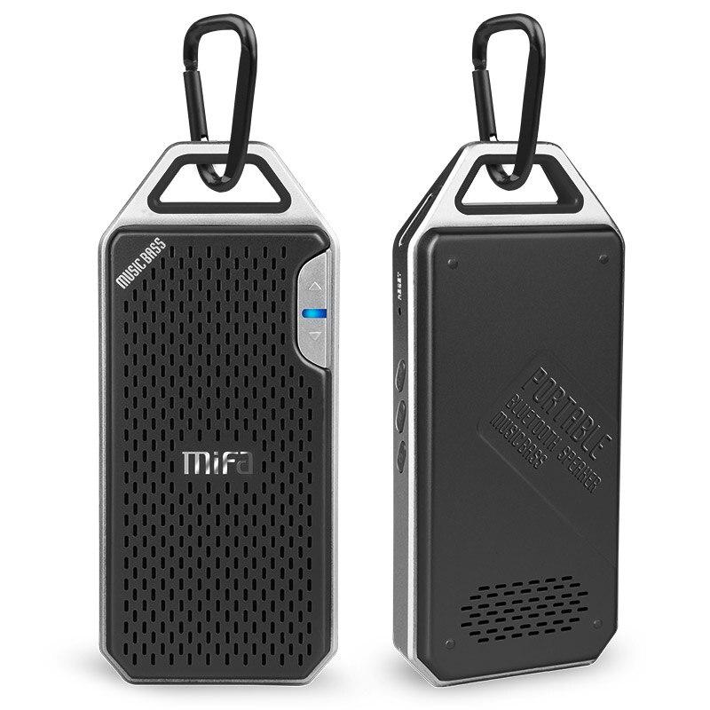 MIFA F4 Wireless Bluetooth Speaker With Mic Micro SD Hook portable bluetooth speaker Aluminum Alloy Housing shock resistance