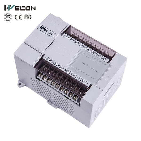 wecon LX3V-1212MT4H-A 24 points plc logic controller for parking system