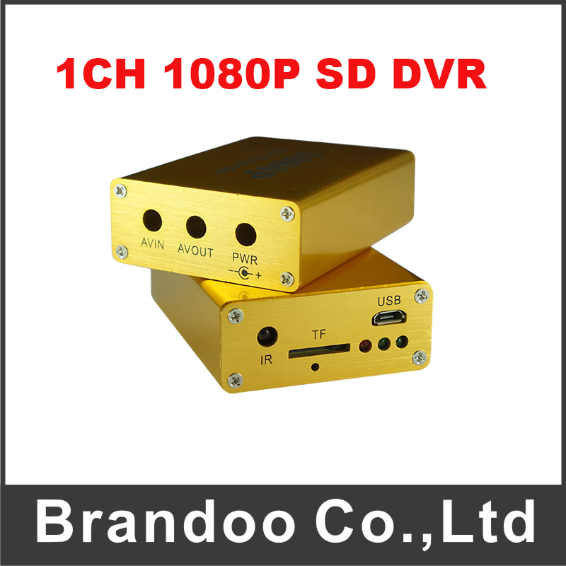 1CH 1080P SD DVR Support Wide Power For Taxi Bus Mobile Car Used