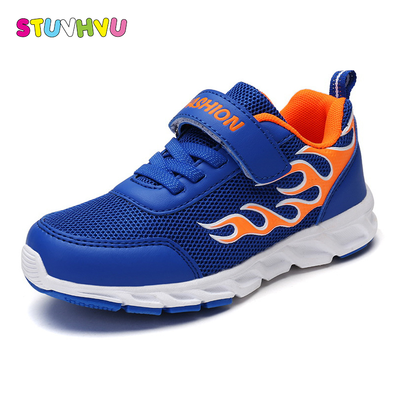 Childrens shoes lightweight boys sports shoes 2018 spring new fashion breathable wear-resistant mesh kids school running shoes