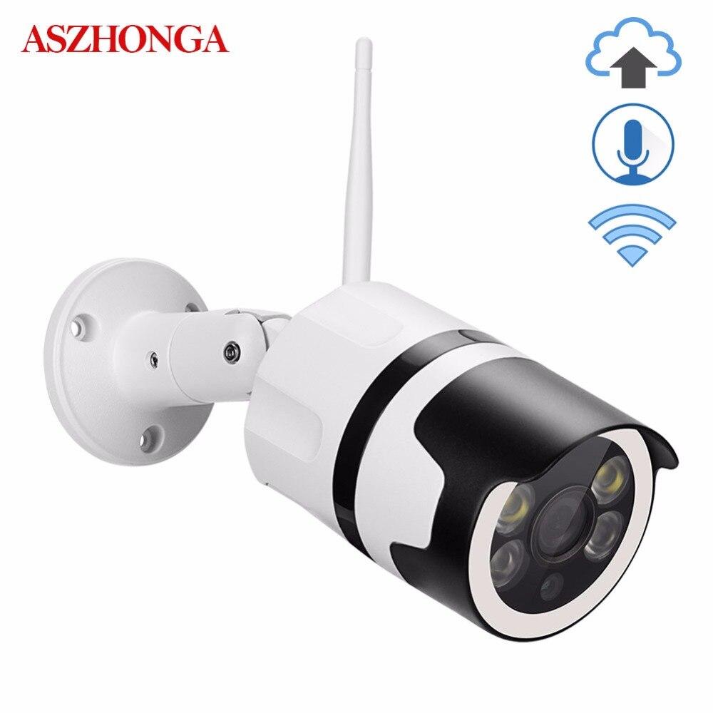 Wireless WI FI Bullet IP Camera 2MP 1080P Outdoor Waterproof Cloud Storage TF Card Onvif CCTV