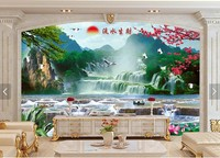 New Big Size Diamond Painting Landscape Water Rich Plum For Reception Room Gift For Leader Friend