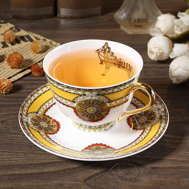Europe High-grade Bone China Coffee Cup Set British Ceramics Phnom Penh Afternoon Tea  Cup Flower Tea Cup Coffee Cup And Saucers