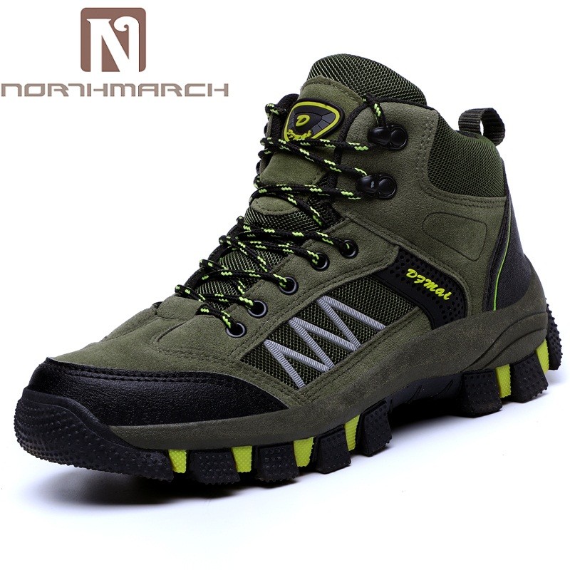 NORTHMARCH Cow   Suede     Leather   Shoes Breathable Outdoor Casual Sneakers Lace Up Autumn Winter Shoes Men Zapatilla Hombre 2018