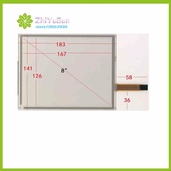 ZhiYuSun 183*141  8inch 4 lins Touch Screen183mm*141mm  for Industrial control Touch sensor glass this is compatible