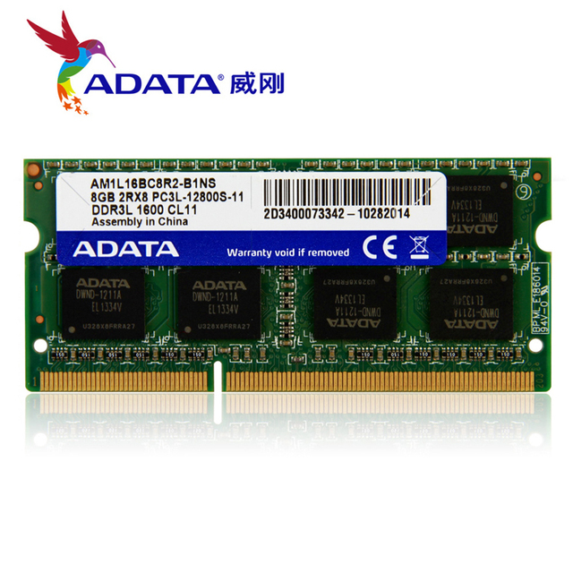 Brand Adata Laptop Memory Ram Ddr3l Ddr3 1600mhz Pc3 12800 4gb 8gb