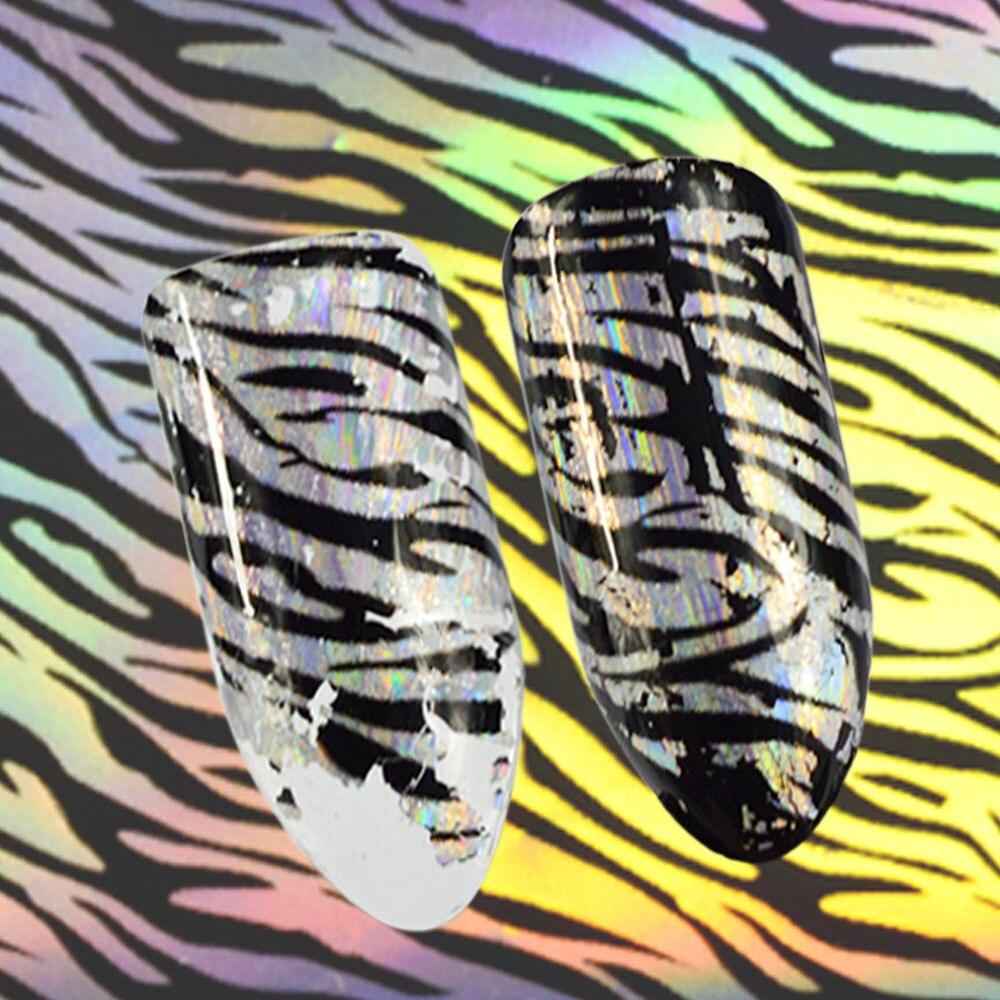 100x4 cm Laser Shining Leopard Printing Nail Folies Vrouwen Sexy DIY ...