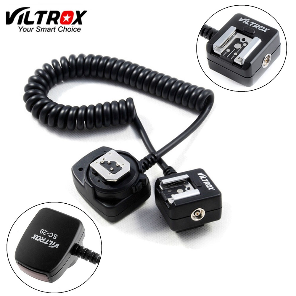 Viltrox SC 29 1M TTL Off Camera Flash Hot Shoe Sync Cord Cable for Nikon D5500