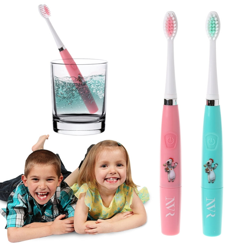Brand Children Cartoon Waterproof Rotary Cartoon Electric Toothbrush and Charcoal Toothpaste for Kid Boys Girls(Without Battery) cartoon kid supercharged