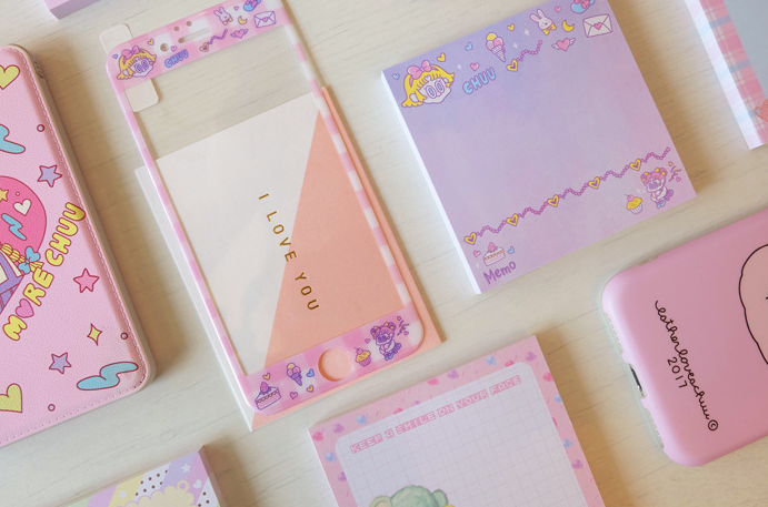 1 Pcs Cute Kawaii Bear Rabbit Cinnamoroll Pudding Dog Daily Plan List Agenda Planner Accessories Index Sticky Memo Message Pads Lahore