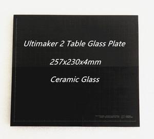 Image 1 - Ultimaker 2 UM2 257x230x4mm Table Glass Ceramic Glass Plate for 3D Printer Build Platform FDM