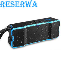 Reserwa Bluetooth Speaker Portable Wireless Speaker Stereo Soundbar Music Bluetooth Column Surround Support AUX,Radio,MP3,Pc,TF(China)