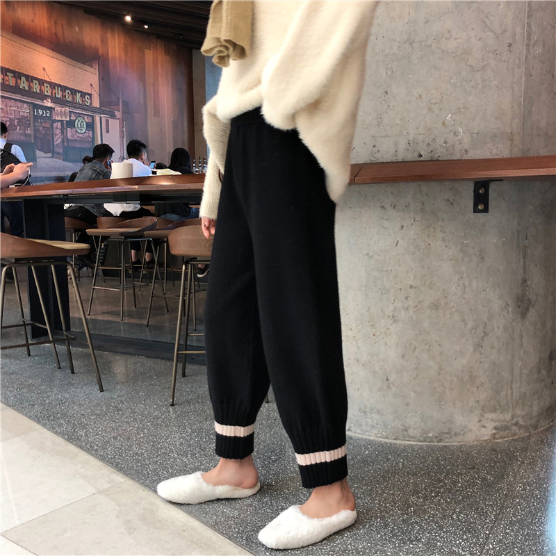 Mihoshop Ulzzang Korean Korea Women Fashion Clothing Spring High Wasit Street Wide Leg   Pants     Capris