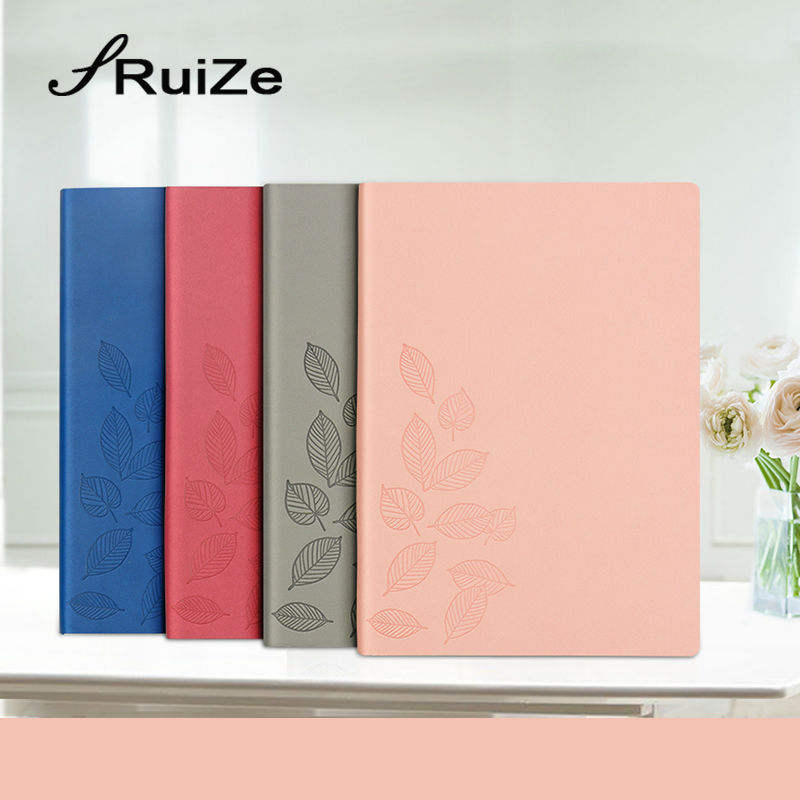 RuiZe 2017 korean stationery cute school notebook A5 leather journal diary planner note book soft cover office supplies ruize soft cover leather traveler notebook blank kraft paper note book a7 a6 creative travel journal diary school supplies