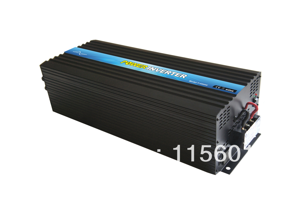 Hot sale  5000w/5kw DC 12V/24V/48V TO AC 100V/110V/120V 220V/230V/240V Pure Sine Wave Inverter ,free shipping!