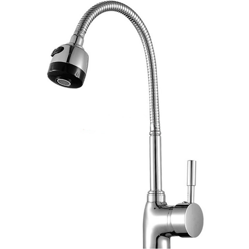 Free Shipping Solid Brass Kitchen Mixer taps hot and cold Kitchen Tap Single Hole Water Tap