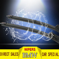 Wipers Blade For BMW Series 5 x1 3 Car windshield rubber wiper blade Boneless original quiet durable Soft Frameless Steel Rubber