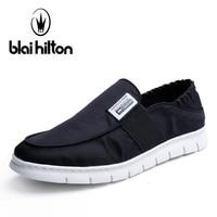 Blai Hilton 2018 New Fashion Summer Canvas men shoes Breathable/Comfortable Slip On Men's Casual Loafers Shoes