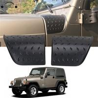 For 1997 2006 Jeep Wrangler TJ Cowl Body Armor Cover Stickers ABS Diamond Plate Trim Black Car Accessory KOLEROADER //