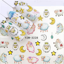 WUF 1 PC Nail Sticker Water Decals Angel baby/Cartoon Pig / Sheep / Flower Nail Art Sticker Decal Slider Manicure Tool Tips(China)