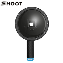 SHOOT 6 inch LCD Dome Port for GoPro Hero 4 3+ Action Camera with Waterproof LCD Housing Case Float Grip Go Pro Accessories set