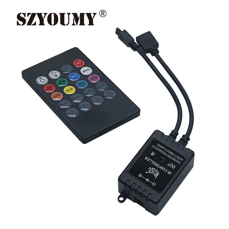 SZYOUMY 50PCS RGB strip light Music IR 20 Keys IR Remote Controller for 3528 5050 RGB