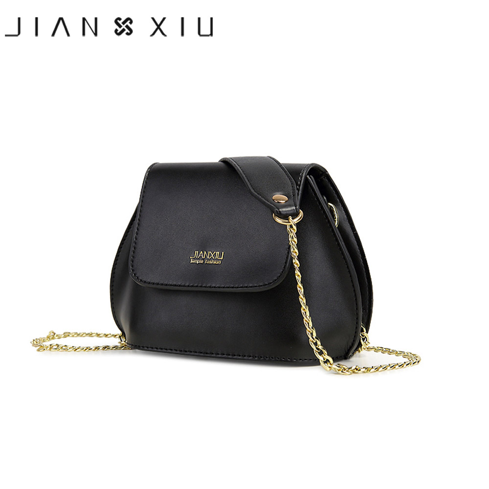 JIANXIU Brand Women Leather Bags Designer Shoulder Bag High Quality Sac a Main Bolsas Feminina 2017 Fasihon Small Crossbody Bags fashion women lock leather small striped shoulder bags designer high quality chains bag ladies crossbody sac a main handbags