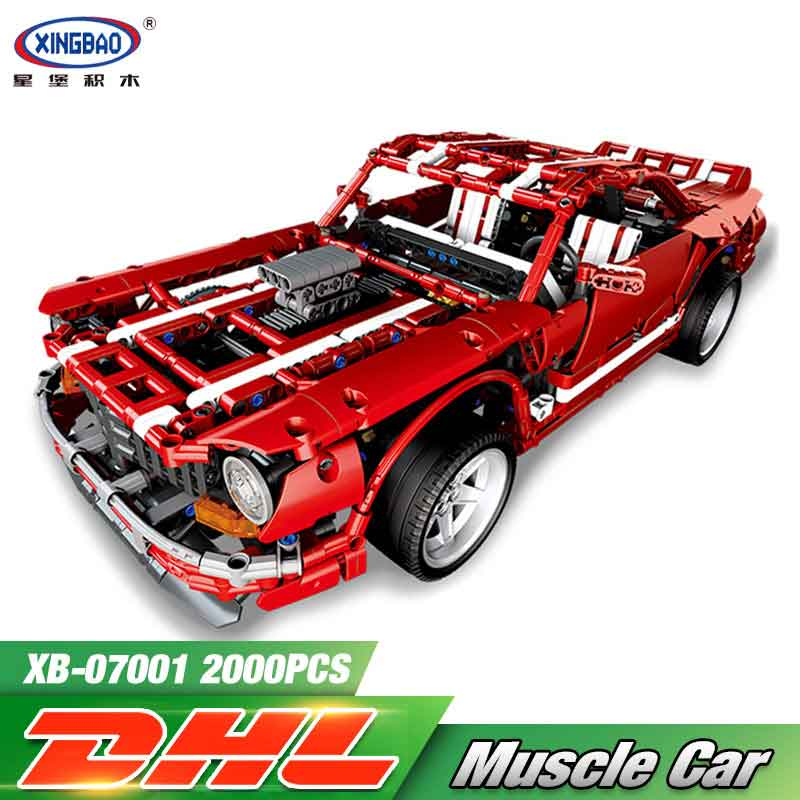 XingBao 07001 Creative MOC Series The Muscle Car Set LegoINGys Children Educational Building Blocks Bricks Toys Model Hediye xingbao 01001 creative chinese style the chinese silk and satin store 2787pcs set educational building blocks bricks toys model