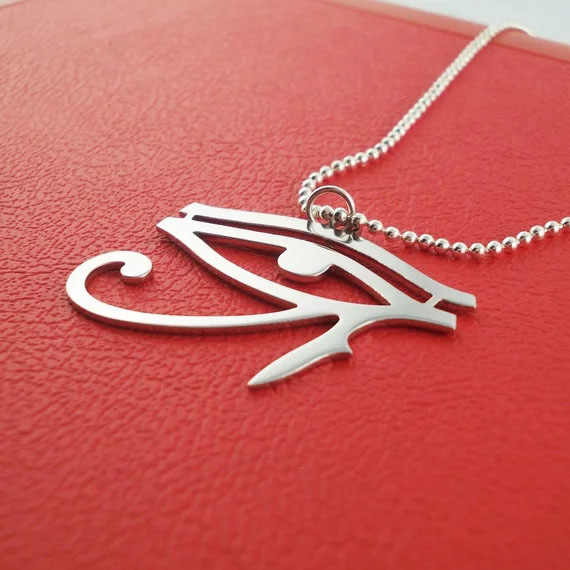Egyptian charm Egyptian Eye of Horus Necklace 2018 Unique Stainless Steel Jewelry Best Gift For Friend Dropship Accepted YP3941