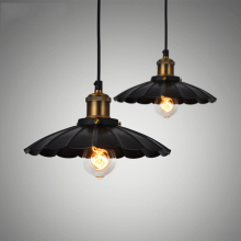 North American country suspension black pendant lamp vintage haning light industrial loft lights lamparas home