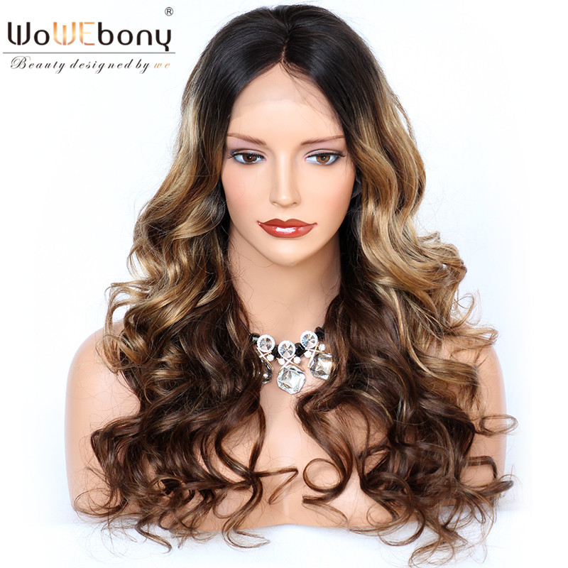 Ombre #2#27#4 Human Hair Wig Wavy Lace Front Human Hair WIgs Star Style Brazilian 150% Glueless Wig Remy 13x4 Lace Front Wig