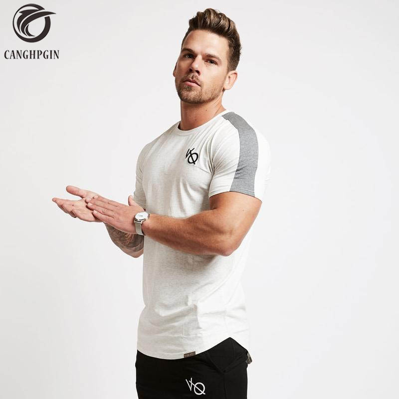 Summer Sport Shirt Men Compression Shirt Fitness Tights Quick Dry Short Sleeve t shirt Men Tee Tops Cotton O Neck Slim T-Shirts round neck stylish 3d colorful pigment splash ink print short sleeve t shirt for men page 4