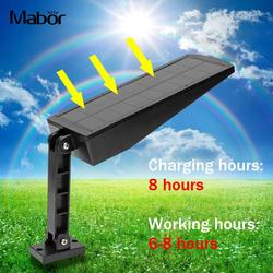 Super jasne energia słoneczna światła na ścianie podwójne światło na zewnątrz PIR czujnik ruchu lampy uliczne