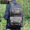 2015 schoolbags good quality mochila PU leather men's backpack men's travel bags large capacity backpack bolsa on sales