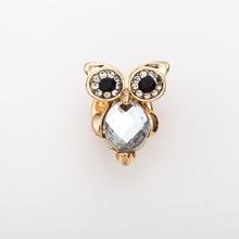 Crystal Mini Big-Eyed Owl Lapel Pin