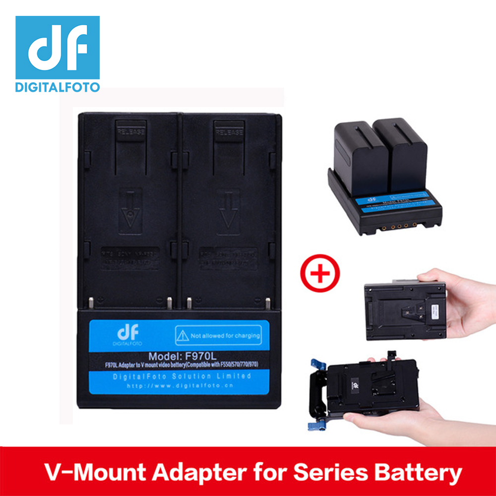 DF DIGITALFOTO F970L F550 F570 F770 F970 Battery Adapter to V Mount Battery V Lock plate for Video Camera Studio Lighting