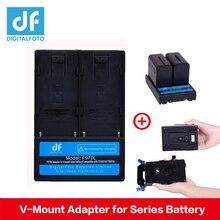 Df Digitalfoto F970L F550 F570 F770 F970 Batterij Adapter V Mount Batterij V Lock Plaat Voor Video Camera Studio verlichting