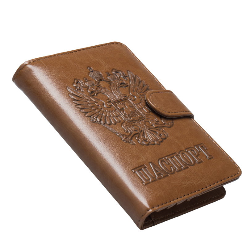 Russia Passport Holder Women High Quality PU Leather Passport Cover Men's Business Card Holder Case Travel Cover For Documents