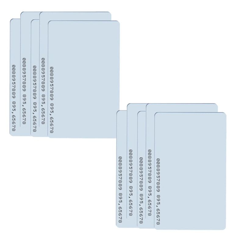 White 10pcs 125 KHz RFrfid Card For Access Control TK4100 EM4100 Rfid Card Rfid 125khz