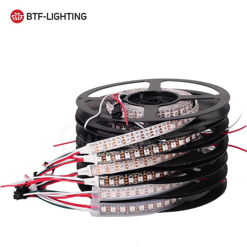 Бесплатная доставка 1 м 74/96/100led/м WS2812B светодиодные полосы 2812 пикселей IP30/65/67 Белый/Черный PCB SMD 5050 адресуемых полный цвет 5 V