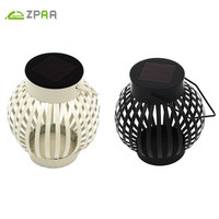 ZPAA Outdoor Portable Solar Camping Lantern Iron Pumpkin Solar Holiday Holloween Lights LED Lamp Light For