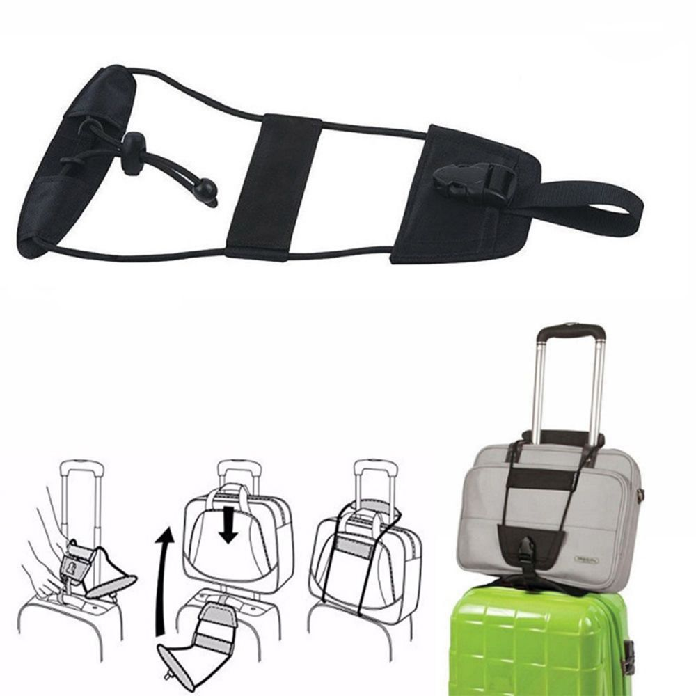 1PCS Elastic Luggage Strap Travel Bag Parts Suitcase Fixed Belt Trolley Adjustable Security Accessories Travel Supplies