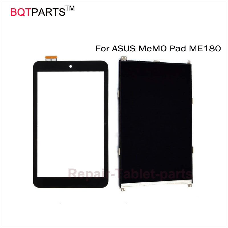 BQT Touch screen display 100% Original 8 inch For ASUS MeMO Pad ME180A ME180 K00L Touch Screen Digitizer Panel Front Glass Lens