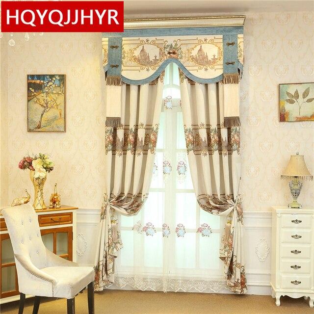 Europeo elegante jacquard di alta qualità piena ombra tende per il ...