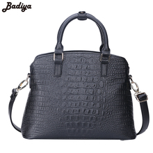 Badiya Alligator Fashion Women Composite Shoulder Bag Set PU Leather Elegant Messenger Clutches Bag Female Handbags