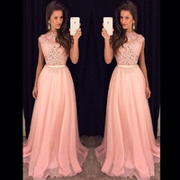 bridemaid dress vestido longo sexy sho me 2017 new cheap pink lace bridesmaid dresses Wedding Party Dress vestido real photos