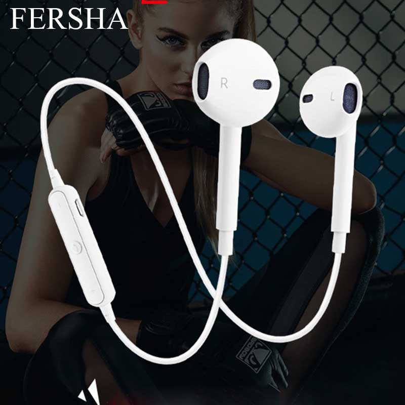 <font><b>S6</b></font> Wireless <font><b>Bluetooth</b></font> Headset Sports <font><b>Headphones</b></font> 3D Stereo Built-In Microphone Stylish <font><b>Bluetooth</b></font> Headset Support A Variety Of App image