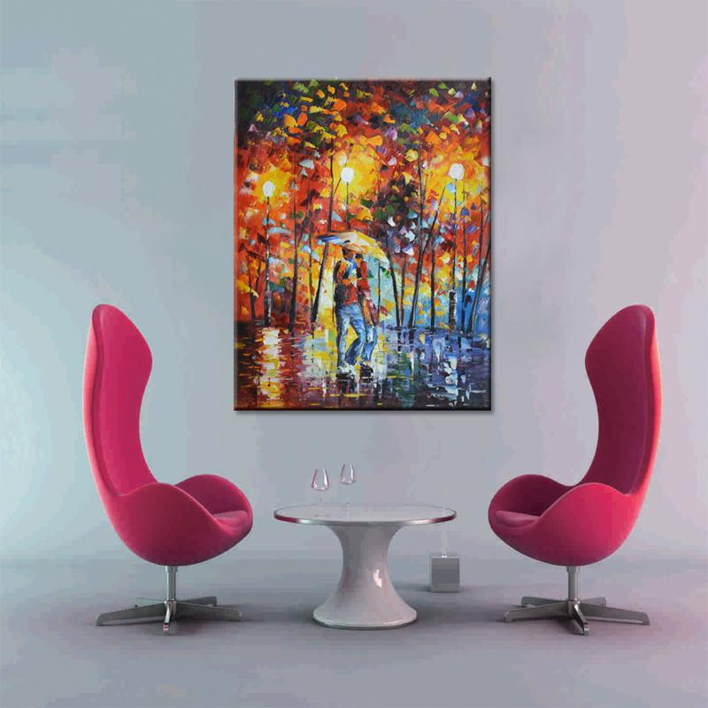 High quality home sitting room adornment office draw hand painted oil painting abstract painting romantic scenery