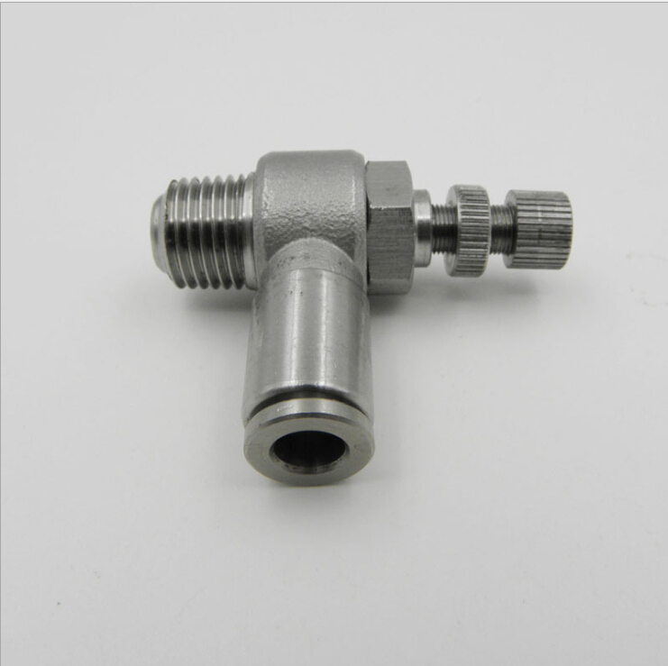 tube size 14mm-1/2 PT thread pneumatic stainless steel 316 push in fittings control the speed of airflow tube size 14mm 1 4 pt thread pneumatic